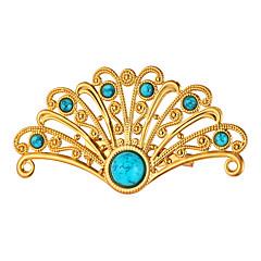 Herre Dame Nåler Turkis Mote Personalisert Gullbelagt Legering påfugl Smykker Til