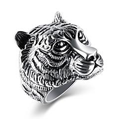 Χαμηλού Κόστους Μοδάτο Δαχτυλίδι-Ανδρικά Cubic Zirconia Band Ring - Τιτάνιο Ατσάλι Κλασσικό, Βίντατζ, Βασικό, Γκόθικ, Μοντέρνα, Χιπ-Χοπ Κοσμήματα Χρυσό / Λευκό / Μαύρο Για Πάρτι Γενέθλια Δώρο Βραδινό Πάρτυ Ημερομηνία Δρόμος 7 / 8