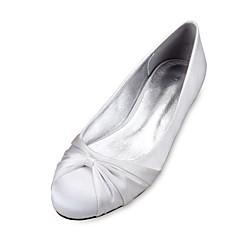 olcso -Női Esküvői cipők Kényelmes Balerinacipő Szatén Tavasz Nyár Esküvő Ruha Party és Estélyi Szatén virág Csokornyakkendő Fodrozott Lapos
