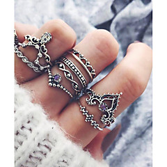 Women's Rhinestone Costume Jewelry Fashion Hip-Hop Alloy Hamsa Hand Jewelry For Gift Daily