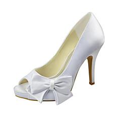 Per donna Scarpe Raso elasticizzato Primavera Estate Decolleté scarpe da  sposa A stiletto Punta aperta Fiocco per Matrimonio Formale