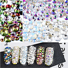800 Nail Art Decoration tekojalokivi Pearls meikki Kosmeettiset Nail Art Design