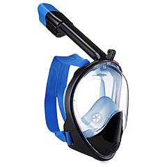 billiga Dykmasker, snorklar och simfötter-Dykmasker / Snorkelmask Anti-Dimma, Heltäckande ansiktsmasker, Under vattnet Två Fönster - Simmning, Dykning Silikon, Fierglas - för Vuxen