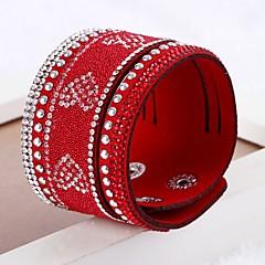 בגדי ריקוד נשים צמידי גלישה צמידי עור עבודת יד סגנון מינימליסטי שכבות מרובות עור Circle Shape תכשיטים עבור חתונה יומי קזו'אל רחוב ליציאה