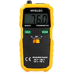 tanie Pomiar temperatury-hyelec ms6501 Duży wyświetlacz LCD cyfrowy termometr termopara typu k trzymać dane termometro / rejestrowanie