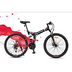 マウンテンバイク 折りたたみ自転車 サイクリング 24スピード 26 inch/700CC YINXING ディスクブレーキ サスペンションフォーク 普通 折りたたみ式 普通 アンチスリップ アルミニウム