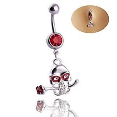 Dame Kroppsmykker Navle Ringer Geometrisk Luksus Smykker Erklæringssmykker Chrismas Klassisk Zirkonium Strass Titanium Stål Geometrisk