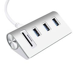 3 porter USB-hub USB 3.0 Micro-B Med kortleser (s) Datalagring Inngangsvern Overbelastningsbeskyttelse Data Hub