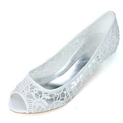 olcso -Női Esküvői cipők Formai cipő Tavasz Nyár Kötött Esküvő Party és Estélyi Vastag Fehér Rózsaszín 1 inch-1 3 / 4 inch
