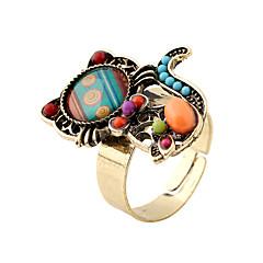 levne -Dámské Široké prsteny imitace drahokamu Módní Bohemia Style Přizpůsobeno Rock minimalistický styl Pryskyřice Slitina Animal Shape Šperky
