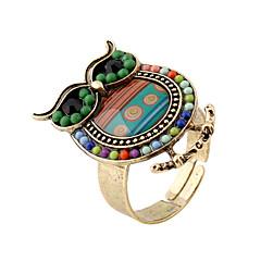 billige Motering-Dame Band Ring Grønn Blå Harpiks Legering Personalisert Bohemsk søt stil Gave Stadie Ut på byen Kostyme smykker