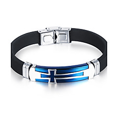 cheap Men's Bracelets-Men's Bracelet - Titanium Steel Personalized, Simple Style, Fashion, Hip-Hop Bracelet Jewelry Black / Blue For Birthday Gift Daily Casual Street