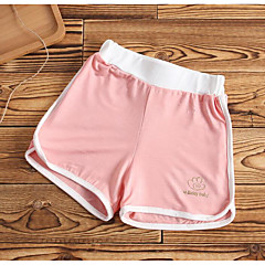 baratos Roupas de Meninas-Bébé Para Meninas Sólido Shorts