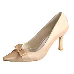 olcso -Női Esküvői cipők Magasított talpú Streccs szatén Tavasz Ősz Esküvő Party és Estélyi Csokor StilettoFehér Ezüst Rózsaszín Világosbarna