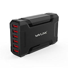 USB-laturi 6 Portit Työpöydän latausasema Switch (es) Universaali Latausadapteri