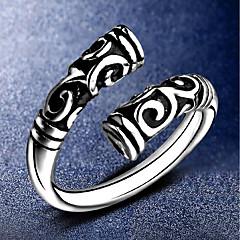levne -Pánské Dámské manžeta Ring Šperky Punkový styl Postříbřené Twist Circle Šperky Pro Ležérní Street