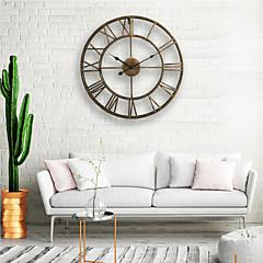 billige Veggklokker-vegg klokke, 20 '' runde århundrer klassisk metall smijern roman tallerken stil innredning analog metall klokke