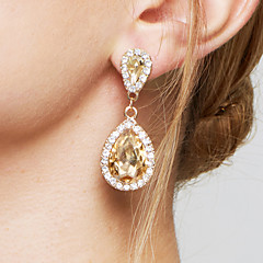 Women's Drop Earrings Earrings Fashion Elegant Bridal Adorable Costume Jewelry Zircon Imitation Diamond Alloy Drop Jewelry For Wedding