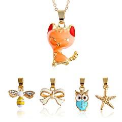tanie Zestawy biżuterii-Męskie Damskie Naszyjniki z wisiorkami Biżuteria Stop Nieregularny Zwierzę Zwierzęta Natura Słodkie Style Modny Gotyckie Impreza