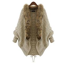 Dames Dagelijks Normaal Vest Effen-Ronde hals 3/4 mouw Overige Winter Dik Micro-elastisch