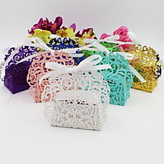 50pcs Lace Wedding Box Flower Candy Box Wedding Decor