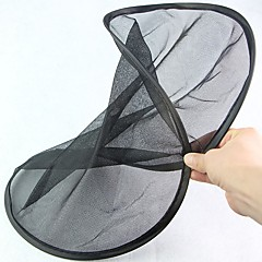 Rund formet sammenleggbar svart maskert bil bakrute solskygge skjold (2 stk