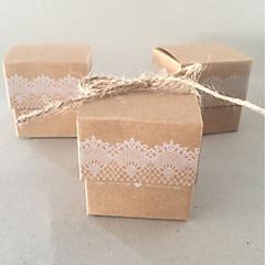 50 Bedankjeshouder-Kubusvormig Kaart Papier Bedank Doosjes