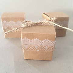 50 Favor Holder-Kocka alakú/köb Kártyapapír Ajándék dobozok
