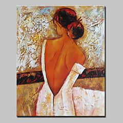Χαμηλού Κόστους Nude Art-Hang-ζωγραφισμένα ελαιογραφία Ζωγραφισμένα στο χέρι - Άνθρωποι Αφηρημένο / Μοντέρνα Χωρίς Εσωτερικό Πλαίσιο