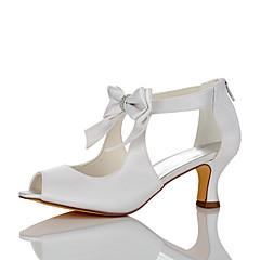 olcso -Női Szandálok Kényelmes Szatén Nyár Ősz Esküvő Ruha Party és Estélyi Csokor Stiletto Fehér 2 inch-2 3 / 4 inch