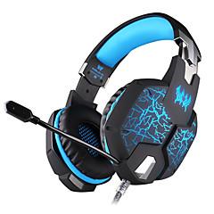 billiga Headsets och hörlurar-KOTION EACH G1100 Headband Kabel Hörlurar Dynamisk Plast Spel Hörlur mikrofon / Självlysande headset