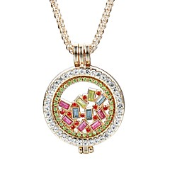 cheap Necklaces-Women's Crystal Rhinestone Crystal Imitation Diamond Pendant Necklace - Elegant Cute Style Fashion Circle Rectangle Necklace For Daily