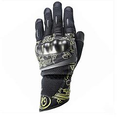 Lange Vinger Oxfordstof motorfietsen Handschoenen