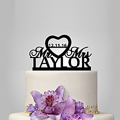 billige Kakedekorasjoner-Kakepynt Klassisk Tema / Bryllup Plast Bryllup / jubileum med 1 pcs Polyester Veske