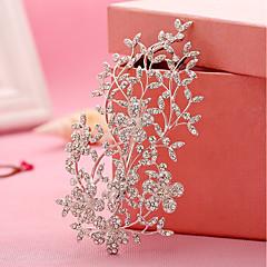 ラインストーン合金の花のヘアクリップの髪の爪のヘッドピースのエレガントなスタイル