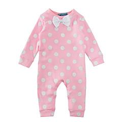 billige Babytøj-Baby Pige Punkt / Rosette Prikker Langærmet Bomuld Overall og jumpsuit