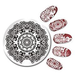 billige Neglestempling-1 pcs Stampplate Mal Neglekunst Manikyr pedikyr Mote Daglig / stempling Plate