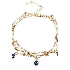 baratos Bijoux de Corps-- Prata Chapeada, Chapeado Dourado Olho Maligno Estilo simples, Fashion Dourado / Prata Para Casual / Rua / Praia / Mulheres