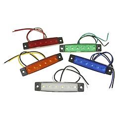 sencart 6led 2835smd wit / rood / groen / blauw / geel lamp remzijde merk auto van motorfietsindicatoren dc12v