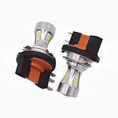 cheap Car Tail Lights-2X Mini Design Super Bright H15 LED Headlight Bulb H15 High Low Beam/LED DRL Function Fit for VW Audi BMW Ford
