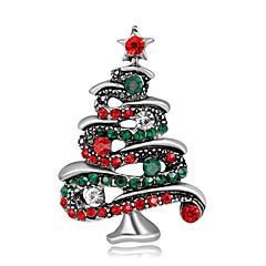 Herrn Damen Broschen Modisch Chrismas versilbert vergoldet Schmuck Für Party Weihnachten
