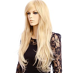 cheap Wigs & Hair Pieces-Synthetic Wig Women's Straight Blonde Synthetic Hair Blonde Wig Long Capless Blonde