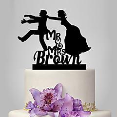 קישוטים לעוגה זוג קלסי חתונה נושא קלאסי חתונה תיק פולי