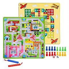 체스 게임 공 미로&순차 이동 퍼즐 루반 락 자기 미로 스트레스 해소 제품 교육용 장난감 장난감 라운드 직사각형 남여 공용 1 조각