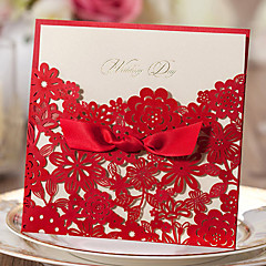 Wrap & Pocket Wedding Invitations 20-Invitation Cards Classic Style Embossed Paper