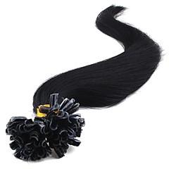 ieftine Extensii Păr Fusion-Fuziune / U Tipi Umane extensii de par Drept Păr Virgin Păr Brazilian Pentru femei Zilnic
