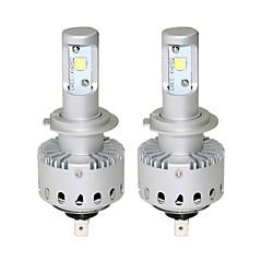 1 sett plug-and-play-design 40w 4000lm 6500k kjølig hvit xhp50-ledet forlyktesett h7 h8 h9 h10 h11 9005 9006