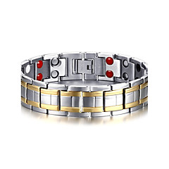 cheap Men's Jewelry-Men's Chain Bracelet Bangles Multi-stone Natural Fashion Titanium Steel Circle Jewelry Jewelry For Gift Daily