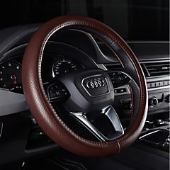 billige Rattovertrekk til bilen-Rattovertrekk til bilen ekte lær 38 cm Lilla / kaffe / Svart / Rød For Audi Q5 / Q7 / A8L Alle år
