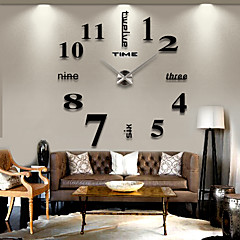 cheap Wall Clocks-Frameless DIY Wall Clock, 3D Mirror Wall Clock Large Mute Wall Stickers for Living Room Bedroom Home Decoration